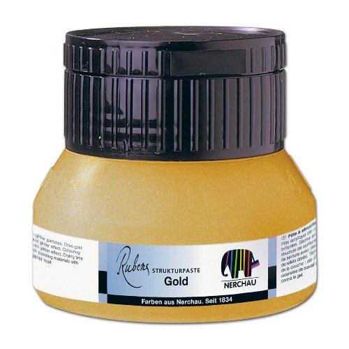 Nerchau 315083 - Strukturpaste Gold, 250 ml