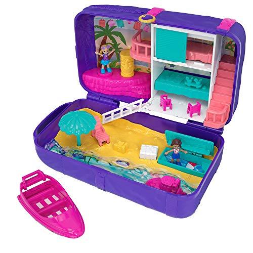Polly Pocket Cofanetto Zainetto dell'Estate, Playset con 2 Bambole, Un Micro Veicolo e Tanti Accessori, FRY40