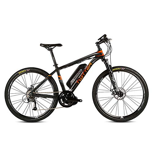 51MRTtubDQL. SS500  - POTHUNTER Electric Mountain Bike, Rear Drive Electric Mountain Bike SHIMANO M370-27 High Speed 36V 10AH Front And Rear Double Disc Brakes Electric Bicycle Mountain Bike,Black-orange-27.5in*17in
