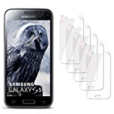 moex 5X Samsung Galaxy S5 Mini | Schutzfolie Klar Display Schutz [Crystal-Clear] Screen Protector Bildschirm Handy-Folie Dünn Displayschutz-Folie für Samsung Galaxy S5 Mini Displayfolie