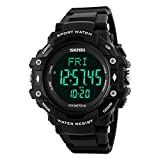 Skmei Kalorien Test Herzfrequenz Bewegung Schrittzähler Uhren 50m Wasserdicht Multifunktions-Sport Watch Armband schwarz