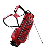 BIG MAX AQUA OCEAN Golf Standbag - Ultraleicht 100% Wasserdicht (Red/Silver)