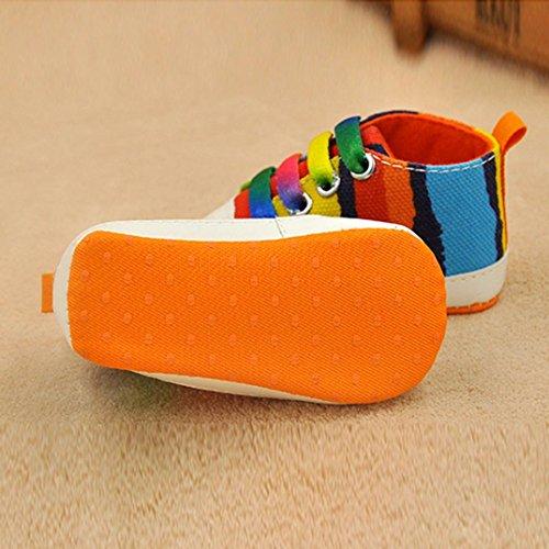 Baby Schuhe, Switchali Bunte Leinwand Soft Sole Kleinkind Schuhe für 0-18 Monat Orange