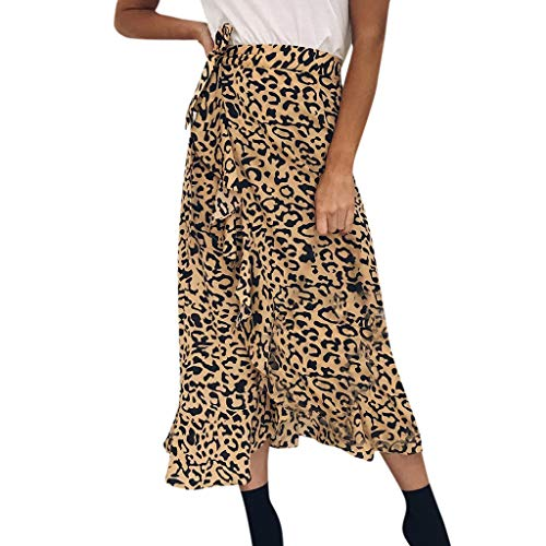 (Qmber Ostern Frühling Sommer Mini Tüllrock Shimmer Glam Pailletten verziert Tutu Sexy Festliche Kostüm mit Leopard/Gelb,M)