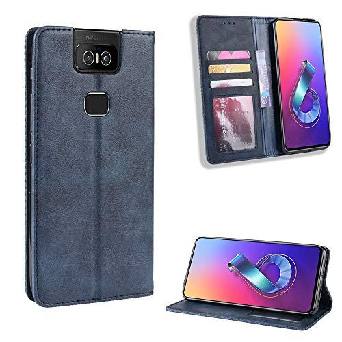 Etui portefeuille SWMGO® Flip pour Asus Zenfone 6 ZS630KL / Asus Zenfone 6z / Asus Zenfone 6 2019 (Conception 4)