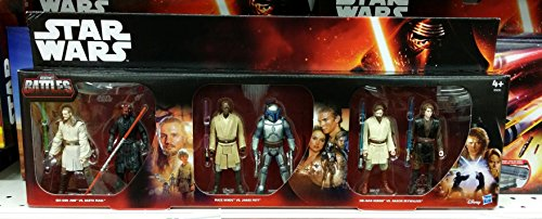 Star Wars Figuren Set 6er Pack Saga Battle Pack (B5010) Episode 1-3 Charaktere B4840