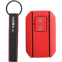 Keyzone® Keycare® Silicone Key Cover for Suzuki Baleno 2019 Onwards, Swift, Ertiga, XL6, DZire 2 Button Smart Key with…