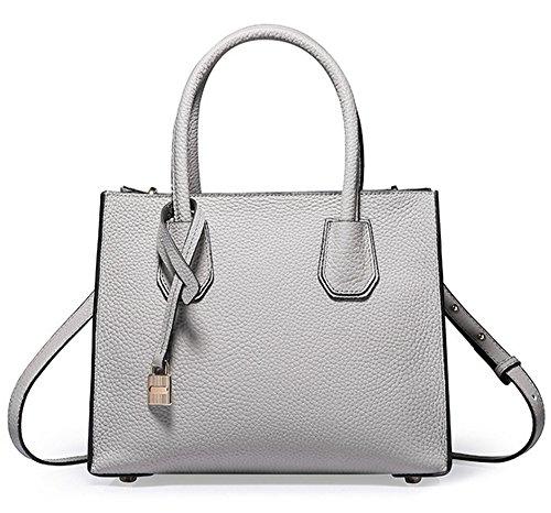 Grün Tasche Damen Schulter Bag Messenger Handtasche Handtaschen Xinmaoyuan Grau Leder Einfache verriegeln tHvCWqxw