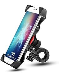"""Grefine PB03A - Soporte Teléfono Móvil Abrazadera de la Horquilla con Rotación 360 para 3.5"""" a 6.3"""" GPS, Unisex Adult, Negro, 115 x 58 mm"""