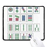Chinesische Kultur Mahjong Schach Spiel rutschfeste Mauspad Spiel Office schwarz titched Kanten Geschenk
