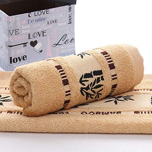 zlzty Handtücher Badetücher Set, Boutique Bambusfaser Handtücher Set Home Täglich Erwachsene Gesichtstuch Badetücher Verdicken Saugfähigen Badezimmer @ B_1 pcs 70x140cm