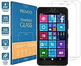 PREMYO 2 Stück Panzerglas für Microsoft Lumia 640 XL Schutzglas Display-Schutzfolie für Lumia 640 XL Blasenfrei HD-Klar 9H 2,5D Echt-Glas Folie kompatibel für Lumia 640 XL Gegen Kratzer Fingerabdrücke