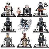 Star Wars: El Despertar de la Fuerza Captain Phasma, R2-D2, First Order Stormtrooper, Kylo Ren, TIE Fighter Pilots, First Order Officer and a First Order Crew, -Juegos de construcción- 8 pieza