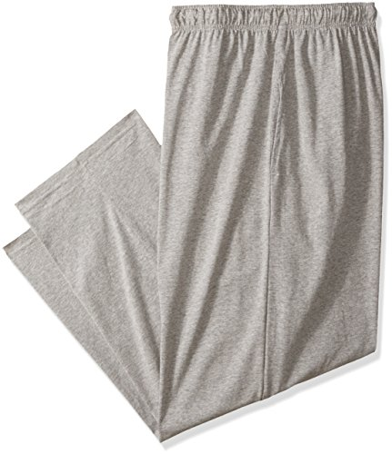 Fruit of the Loom Men's Tall Size Jersey Knit Sleep Pant, Grey Heather, 2XLT (Knit Jersey Pants)