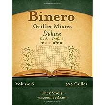 Binero Grilles Mixtes Deluxe - Facile à Difficile - Volume 6 - 474 Grilles