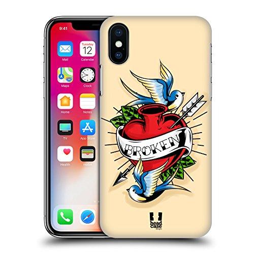 Head Case Designs Ancre De Marin Tatouages Old School Étui Coque D'Arrière Rigide Pour Apple iPhone 6 / 6s Coeur Brisé