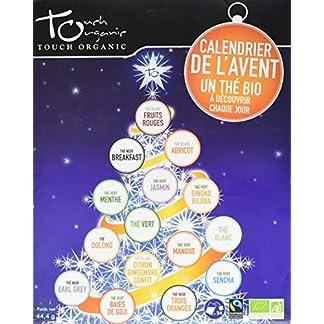 Touch Organic Calendario de adviento – Tés ecológicos – 24 Sobres