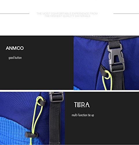 Wawen molto Fashion moderno unisex in nylon piegare la zaino sport all' aperto Borsa da viaggio impermeabile zaino portatile, Blue, 35L Blue