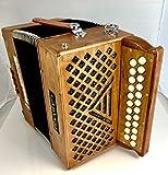 Garvey TAM 2 23 Button Bass Accordion - Tipo A Mano Reeds - Includes Shoulder Straps