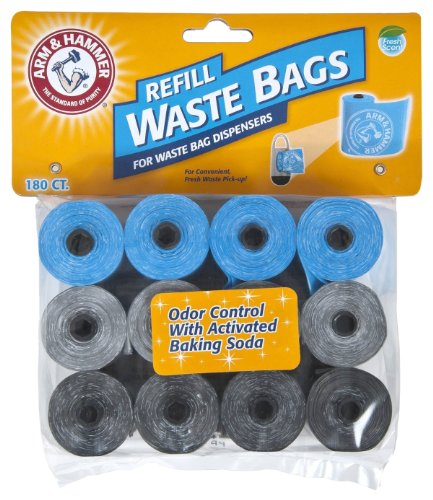 Arm-Hammer-71040-Disposable-Waste-Bag-Refills-Assorted-180-Pack