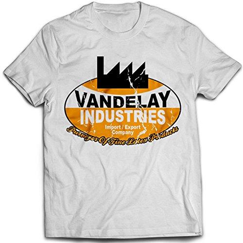9038w Vandelay Industries Herren T-Shirt Seinfeld Comedy TV Ind(Small,White)