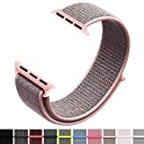 Iyou Sport Loop Armband Compatible with Apple Watch 40MM, Adjustable Closure Wrist Strap Lightweight Breathable Nylon Replacement Band Compatible with Apple Watch Series 4/3/2/1