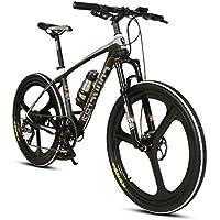 Extrbici VTT à Assistance électrique Vélo de Montagne en Fibre de Carbone 250W 36V très Léger de 18kg Fourche à Ressort à l'huile & Shimano 9 Vitesses