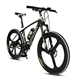 Extrbici VTT à Assistance électrique Vélo de Montagne en Fibre de Carbone 250W 36V très Léger de 18kg avec Fourche à Ressort à l'huile & Shimano 9 Vitesses