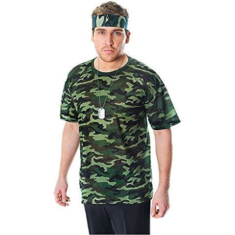 T-Shirt camuflaje Camo de los hombres morphsuit camiseta de patrulla Militar