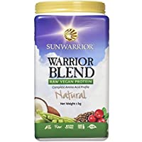Sunwarrior Warrior Blend Organic Raw Vegan Protein Powder, Natural, 1kg