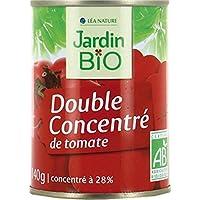 Jardin bio Double concentré de tomates bio 140g - Livraison Gratuite pour les commandes en France - Prix Par Unité