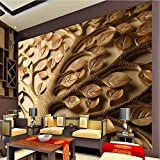 Meaosy 3D Mural Wall Paper Personalized Romantic Minimalist Living Room Bedroom Tv Backdrop Leaves Photo Wallpaper Painting-400X280Cm
