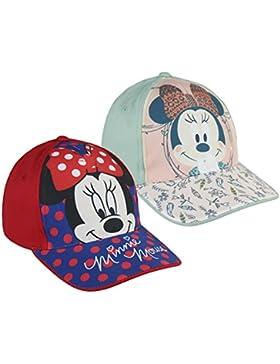 Pack 2 gorras de tela adaptables 2 diseños diferentes MINNIE (Disney) rojo y verde manzana