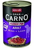 Animonda GranCarno Adult Rind plus Lamm 400 g - Hundefutter, 6er Pack (6 x 400 g)