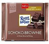 Ritter Sport Bunte Vielfalt Schoko-Brownie, Tafel Schokolade mit feiner Brownie-Füllung (gefüllte Vollmilchschokolade)...