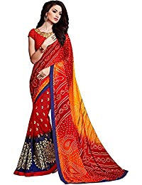 Lajree Designer Women's Clothing Kanjivaram Saree Latest Party Wear Design Free Size Saree With Blouse Piece(Sarees... - B079T25WJF