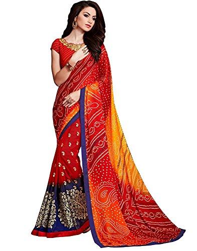 Nirjas Designer Women\'s Clothing Kanjivaram Saree Latest Party Wear Design Free Size Saree With Blouse Piece(Sarees for women latest design sarees new collection 2018 sarees below 1000 rupees sarees