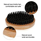 Rovtop Beard Brush and Comb for Men, Boar Bristles Beard Brush and 1 Comb for Hair and Beard Styling