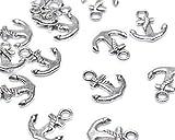 Beads Unlimited Metall-Anker, 15x 17mm, versilbert, 50Stück