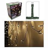 EISREGEN Lichterkette mit 180 LEDs warmweiß für Innen- & Außenbereich