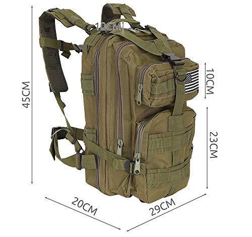 MALATEC Militär Rucksack 20L / 35L Trekkingrucksack Outdoor Camping Molle 4 Farben 8915, Farbe:Grün, Größe:20 L