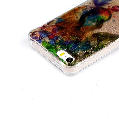 Beiuns pour Apple iPhone 5 5G 5S / iPhone SE (4 pouces) Coque en Silicone TPU Housse Coque - YT008 Plumes YT003 Renard et carillon de vent