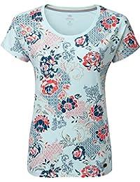 3c96f2114d9 Sherpa Meytho - T-Shirt Manches Courtes Femme - Bleu Multicolore 2019 Tshirt  Manches