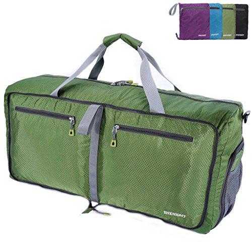 enknight 55L 75L da viaggio impermeabile pieghevole borsone valigia borsa palestra, Green, Medium 55L