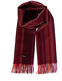 0786c6395ab676 Roter Winterschal Wollschal multi color Farbenschal Streifenschal Damen  100% Alpaka Wolle