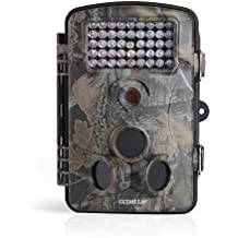 2.4 Inch 12 Megapixel (12 MP) 1080P HD 120 degree Wide Angle IP54 Waterproof Hunting Wildlife Trail Game Camera Surveillance Camera with 42 Pcs IR LEDs for Night Vision, Camo Green