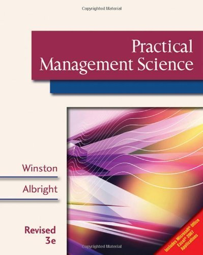 Practical Management Science, Revised (with CD-ROM, Decision Making Tools and Stat Tools Suite, and Microsoft Project) by Wayne L. Winston (2008-08-06) par Wayne L. Winston; S. Christian Albright