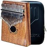 Moozica 17 touches Kalimba, Professionnel De Haute Qualité Doigt Pouce Piano Instrument de Musique Cadeau (Acajou Tone Bois-K17M)