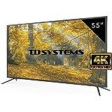 Televisores Led 55 Pulgadas UHD 4K TD Systems K55DLM8U. Resolución Ultra HD 4K, 3x HDMI, VGA, USB Reproductor y Grabador, Tv Led TDT HD DVB-T2