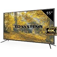 """TD Systems K55DLM8U - 55"""" UHD 4K (Resolución Ultra HD 4K, 3X HDMI, VGA, USB Reproductor y Grabador, TV Led Tdt HD DVB-T2)"""